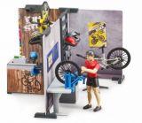 Bruder fietsenmaker met werkplaats